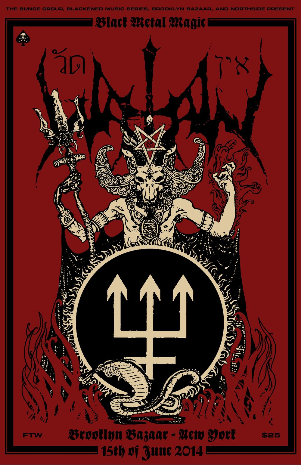 Watain, June 15 2014 @ The Brooklyn Bazaar, Brooklyn