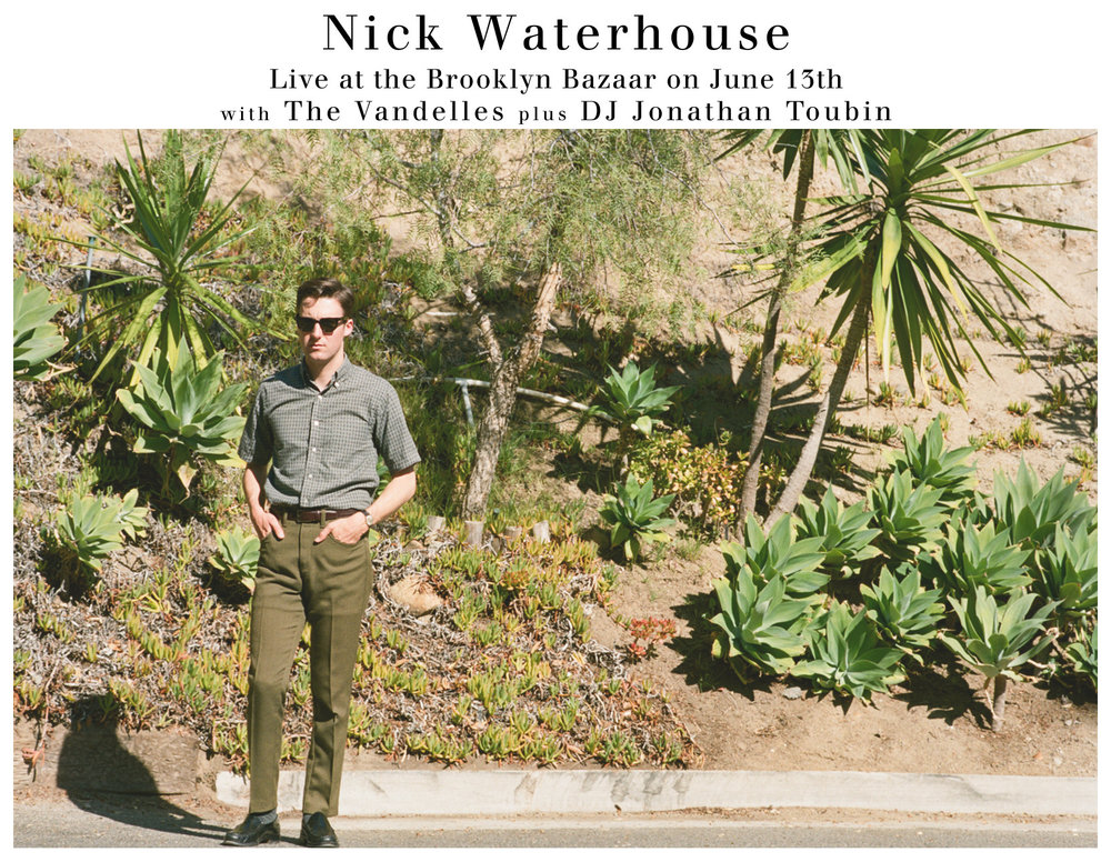 Nick Waterhouse, June 13 2014 @ The Brooklyn Bazaar, Brooklyn