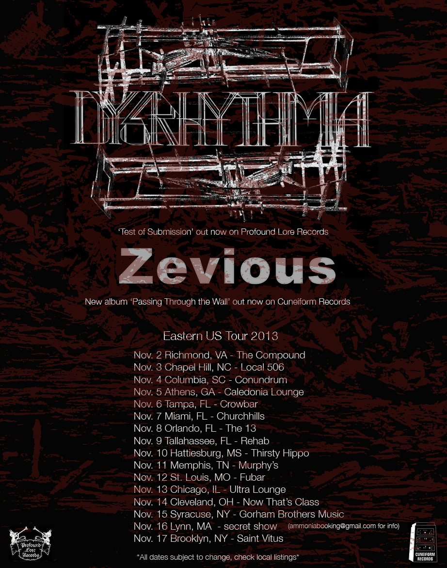 "Dysrhythmia, ""Test of Submission"" Tour 2013"