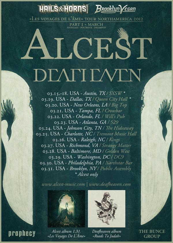 """Alcest, """"Les Voyages de L'âme"""" Tour 2012"""