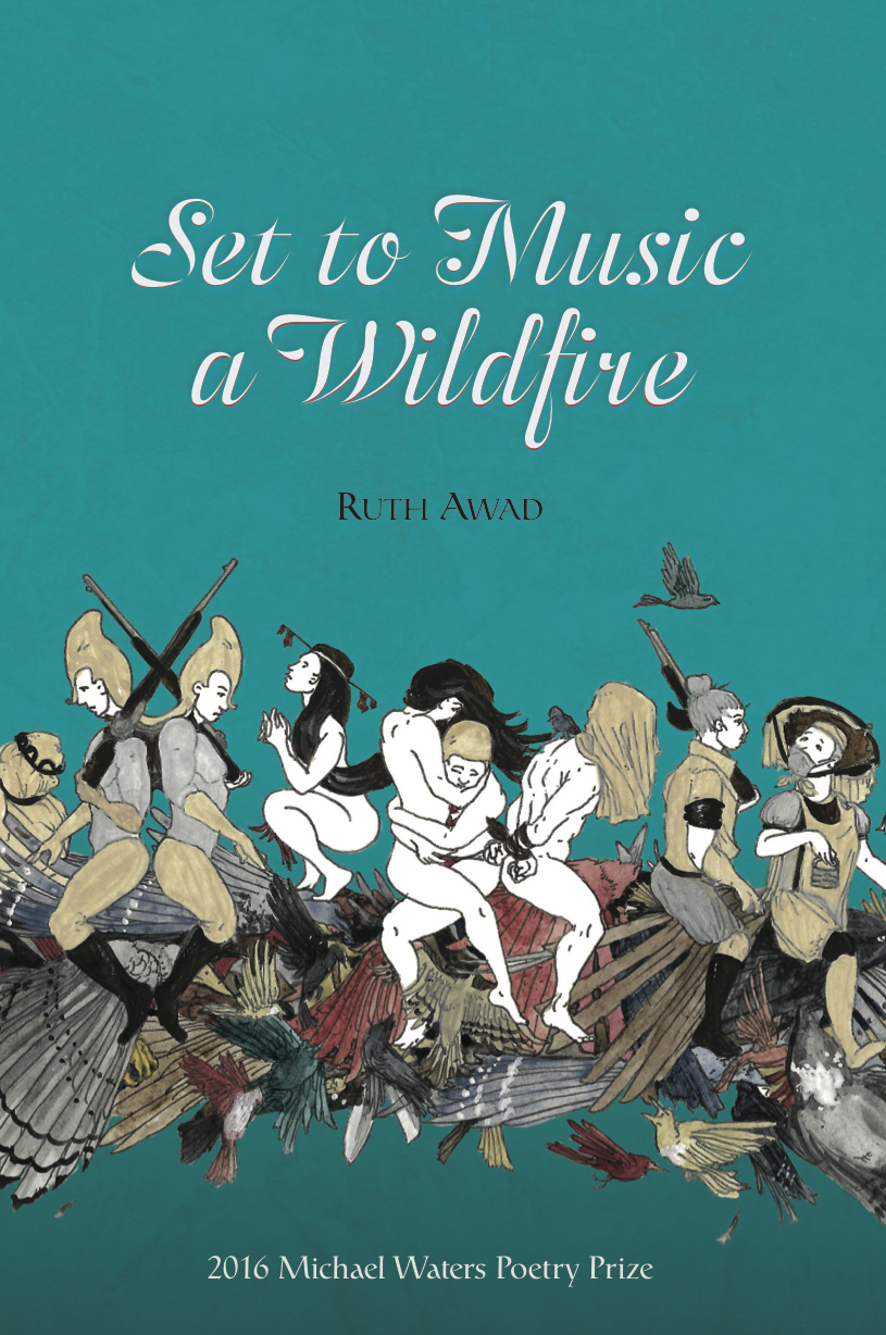 Set to Music a Wildfire - Winner of the 2016 Michael Waters Poetry Prize; forthcoming from Southern Indiana Review Press on October 17, 2017. Cover art by Daniel Obzejta.