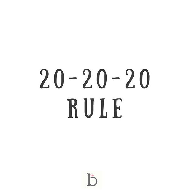 The 20-20-20 rule 📱 ~ To help with digital eye strain you can try this rule ~ After every 20 minutes of screen time look at something 20 feet away (~ 6 meters) for 20 seconds 👁👁