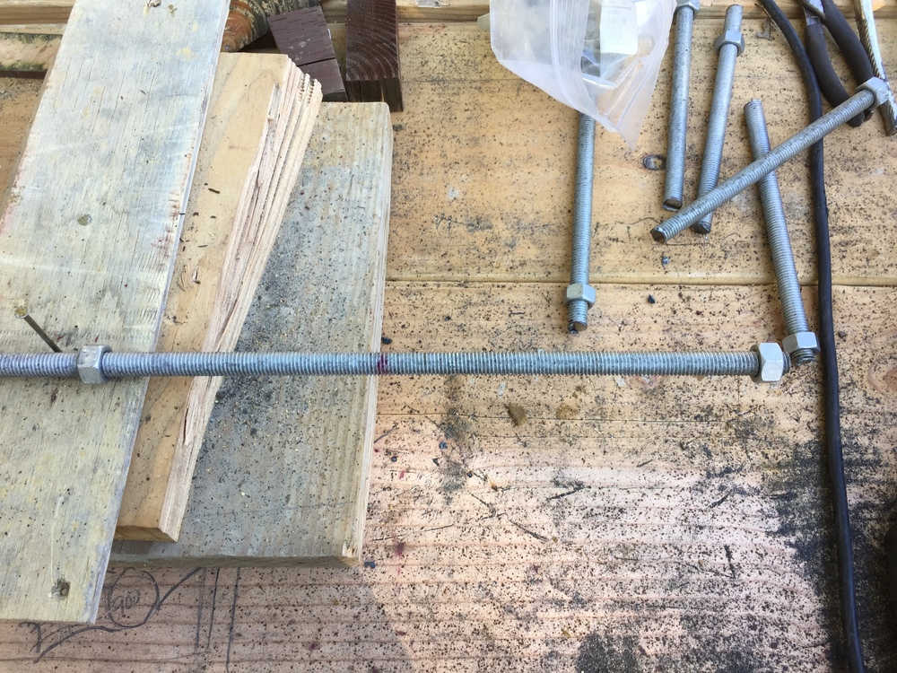 "Marking 8"" lengths for all-thread bolts"