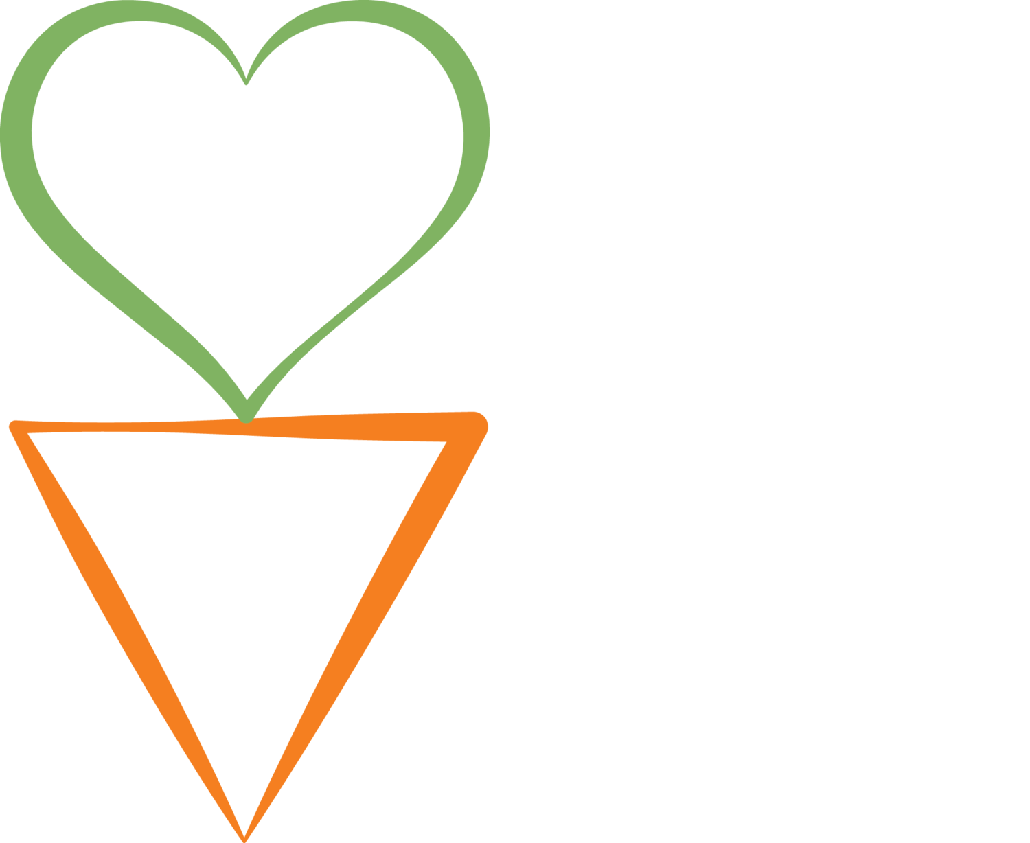 carrot tops are green