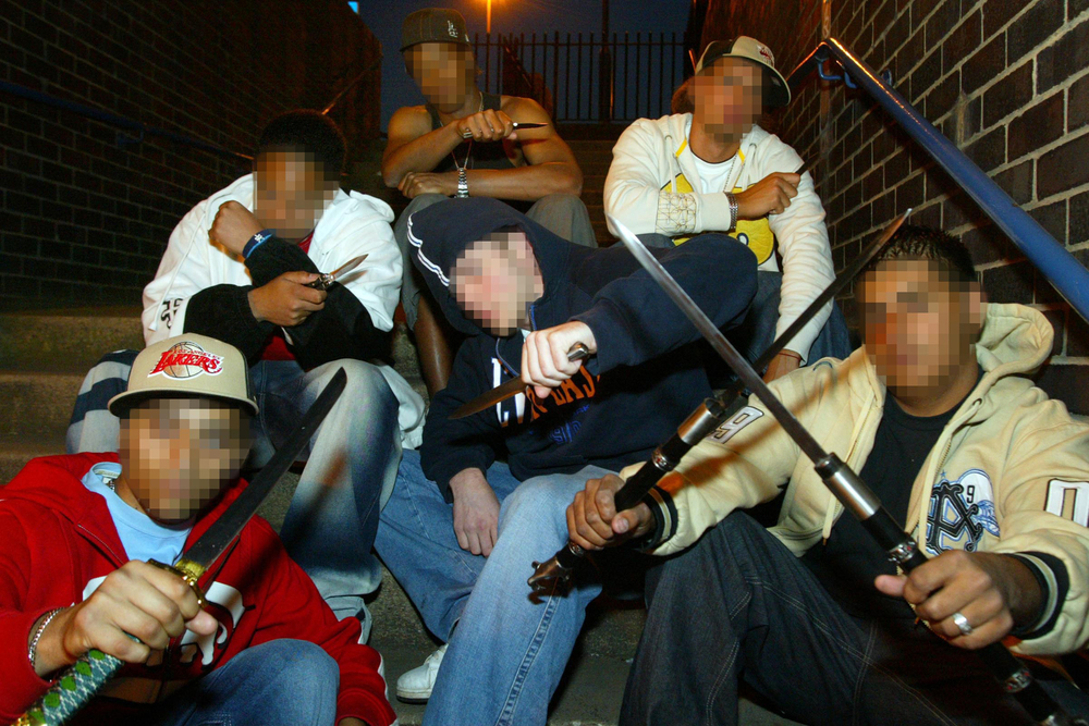 Knife gang, Birmingham.