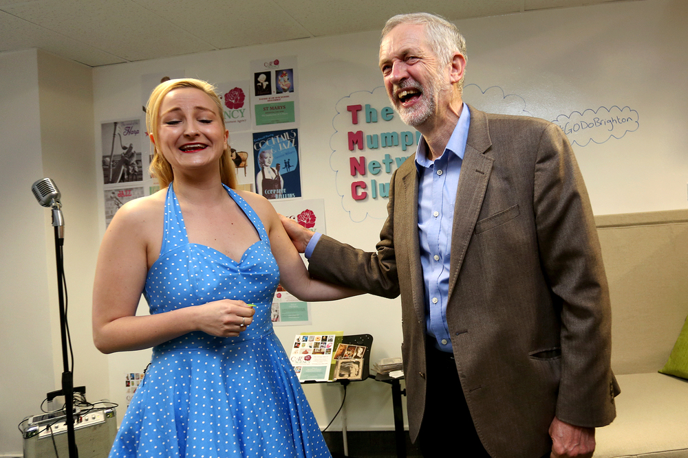 Labour Leader Jeremy Corbyn visiting.