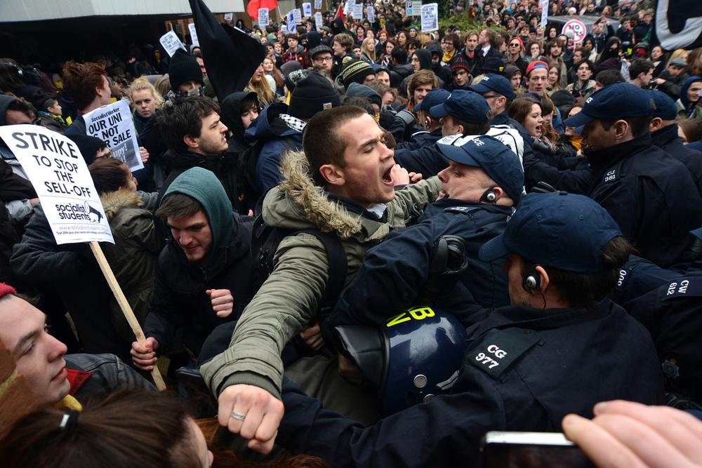 Student Protest, Brighton.