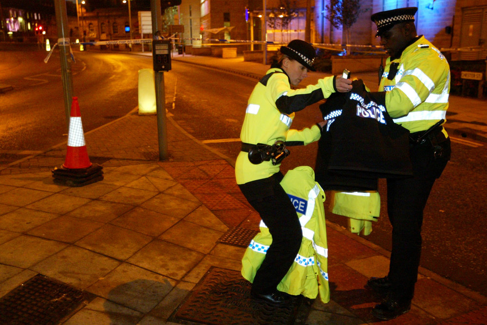 Police murder, Bradford.