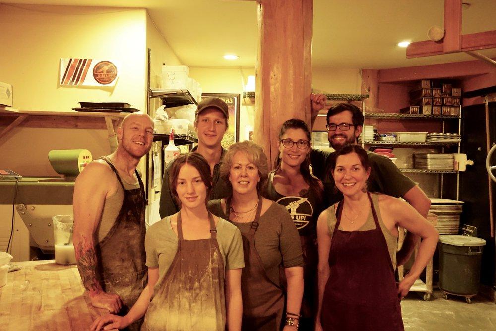 Bakery Crew: Jo, Quinton, Rachel, James, Cheyenne, Jeris, Melissa