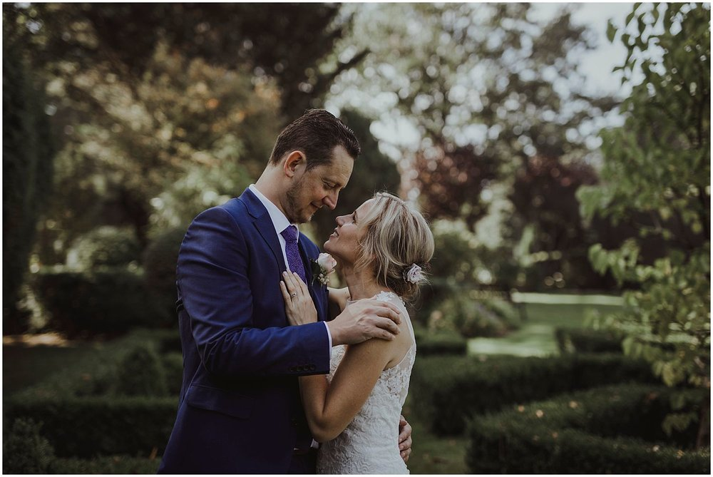Wedding photo of bride and groom at Smallfield Place