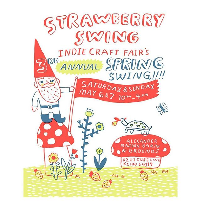 I am so excited to be 1 of 100 makers at the 3rd annual Spring Swing event in just a few weeks! Come check out @strawberryswingkc for a fun weekend full of local creative goods! I'll be sharing my travel-inspired lettering gifts and decor 😊