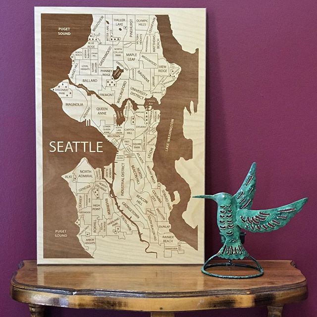 We're running a Seattle sale! Get a map from $39 with free shipping. Follow the link in bio and search for Seattle.
