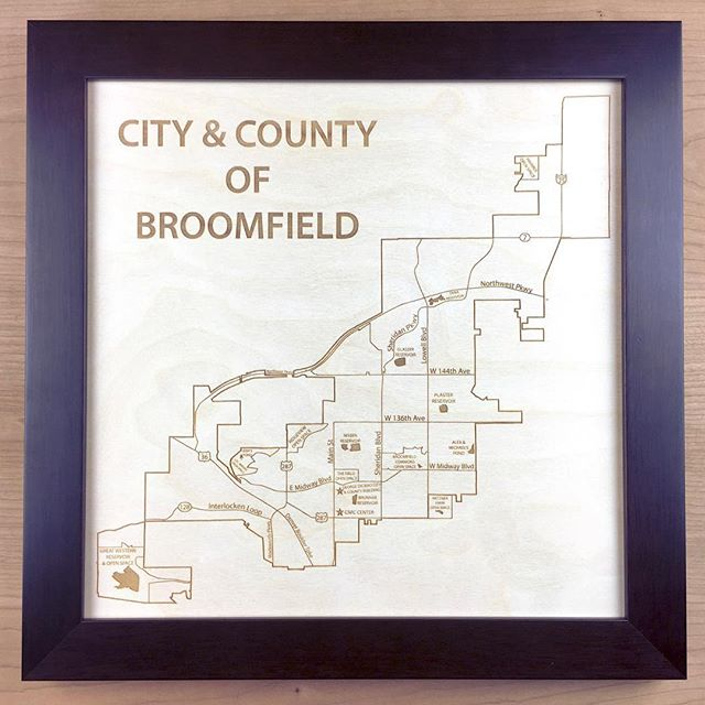 We had fun making this map for the city of Broomfield! They gifted it to their outgoing City Council members in thanks for their service.