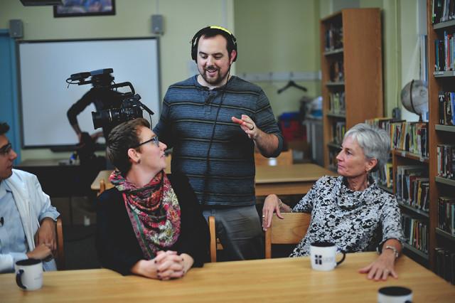 Directing a group of Teachers at GESU School, in Philadelphia