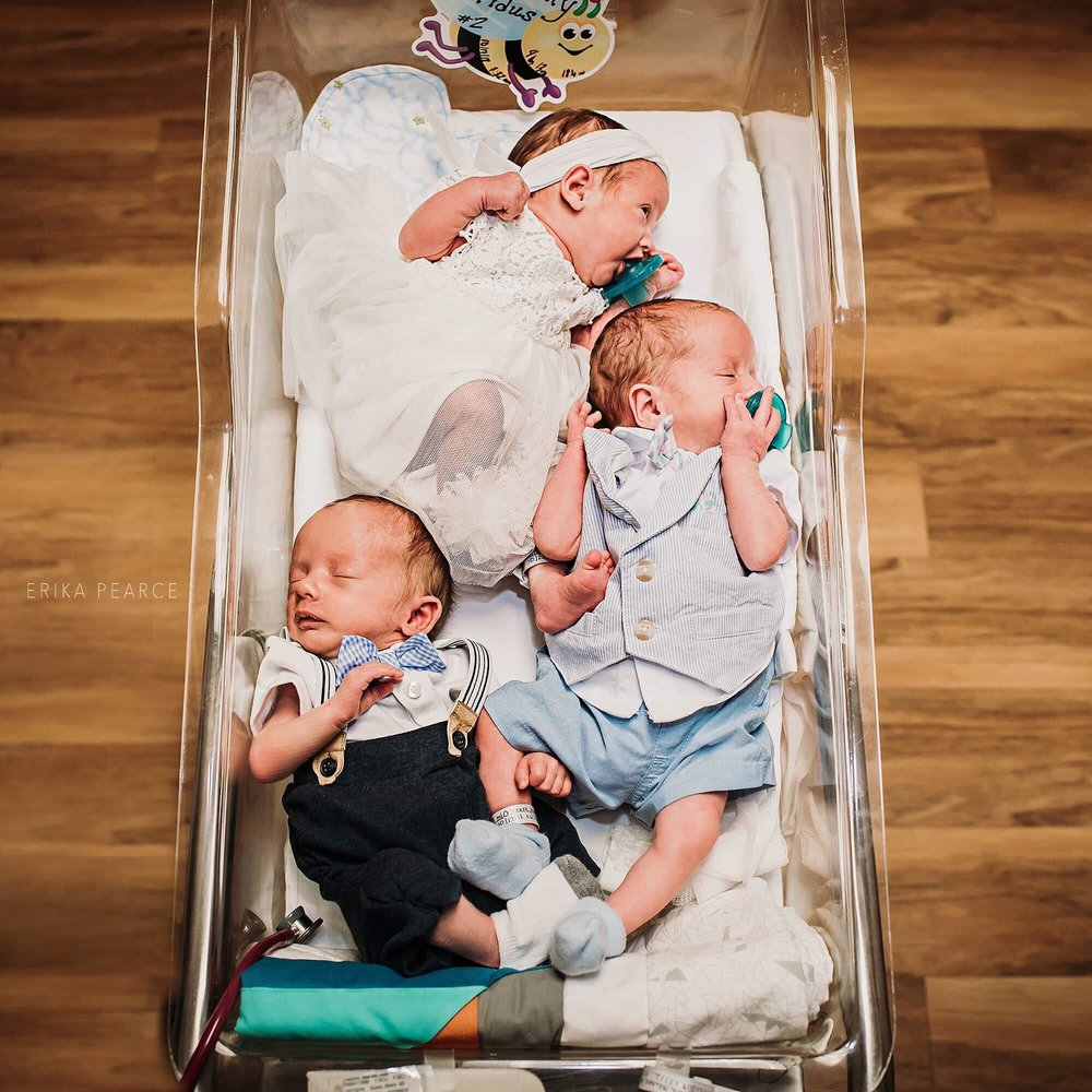 triplets birth and fresh 48 session