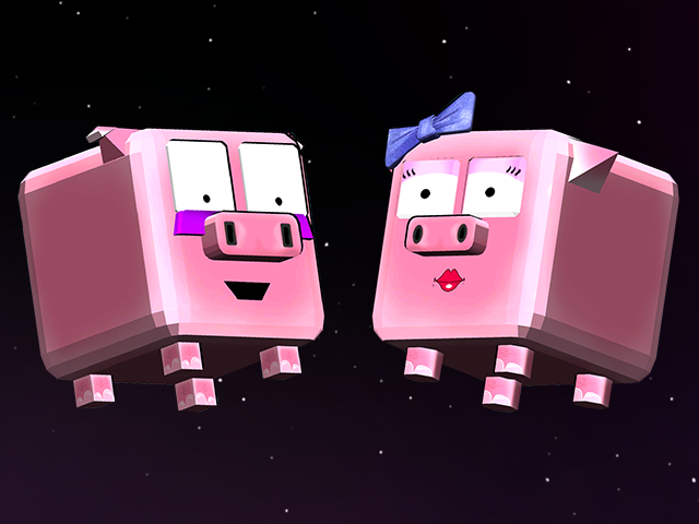 Two Pigs to Play  - Pick to begin your adventure with either Pica Pig or Pixel Pig. Each has their own costumes and storyline.