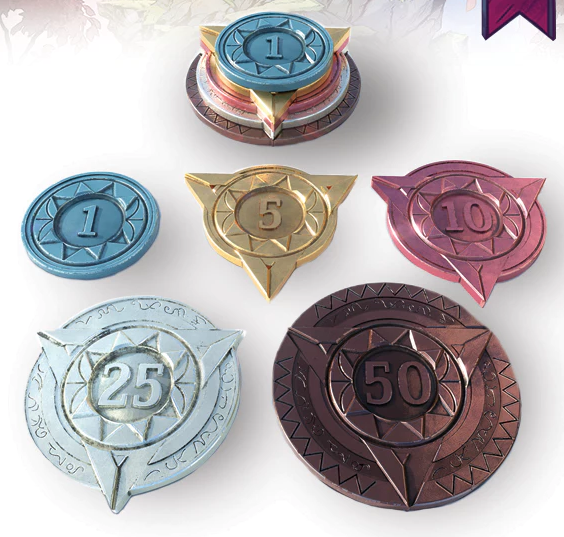 The prestige version of the game also comes with these really neat coins.