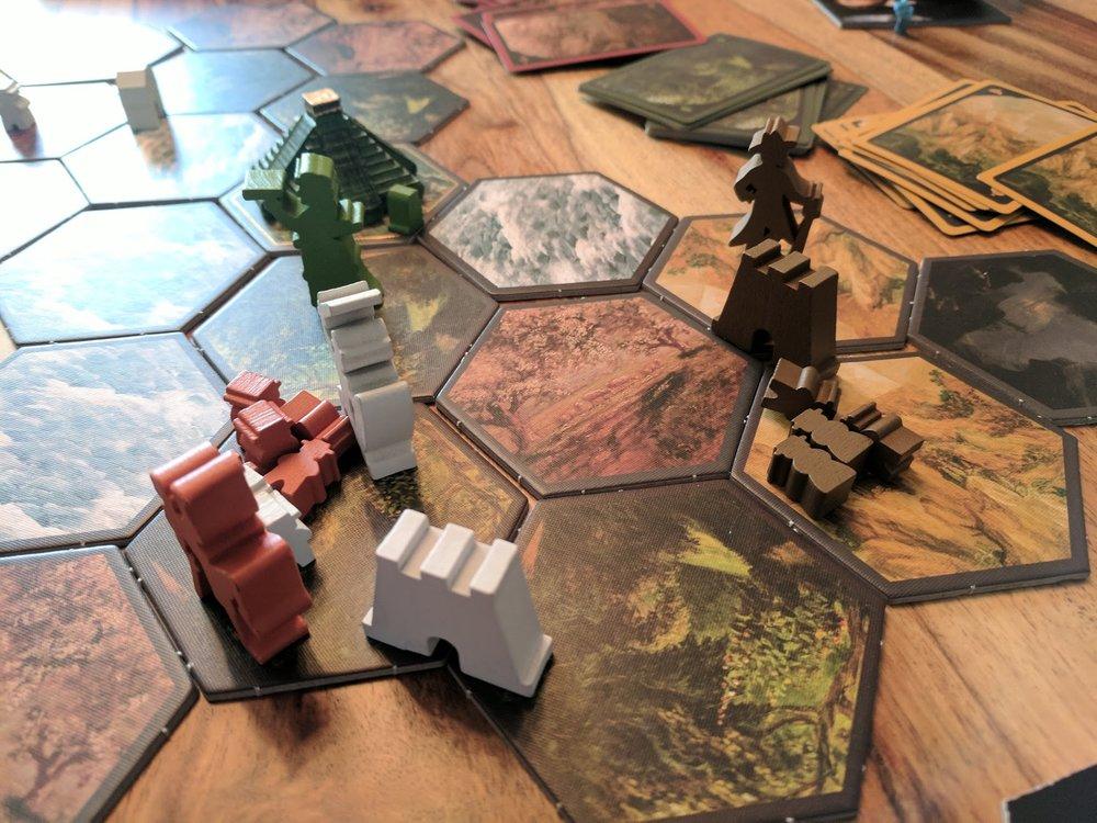 Four player showdown.