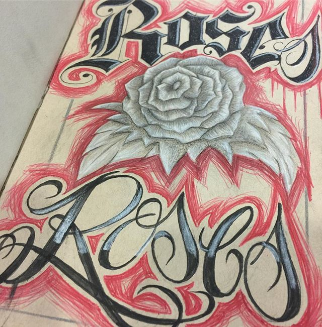 Working on a sketchbook dedicated to roses. #btldsketchbook #roses #roseart #art #arte #sketch #draw #blessed