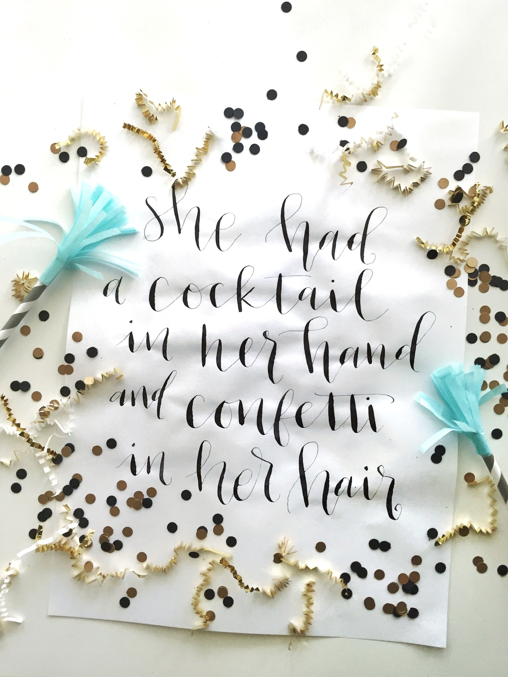 Hey Love Designs 10 Days of Printables | She had a cocktail in her hand and confetti in her hair. Download this print from @heylovedesigns.