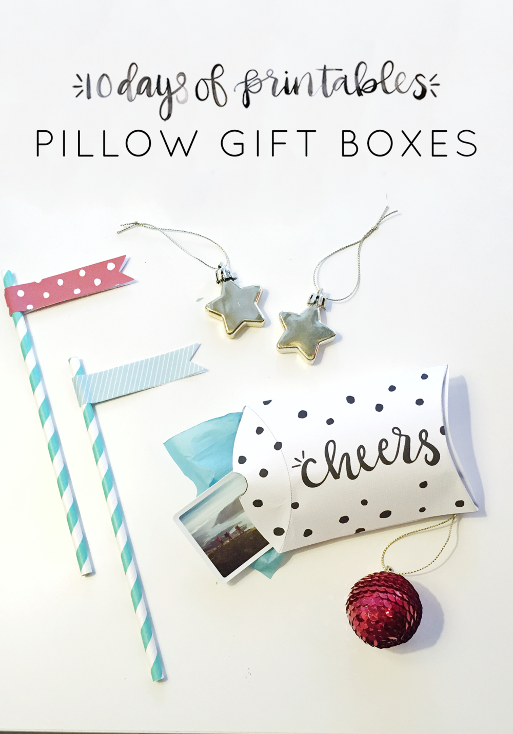 10 days of printables: pillow gift boxes — hey love designs