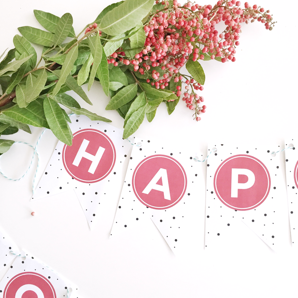 10 Days of Printables Happy Holidays Banner hey love designs