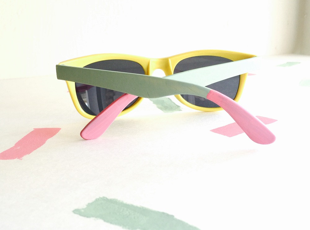 Give free swag sunglasses a fun makeover with some paint | Hey Love Designs