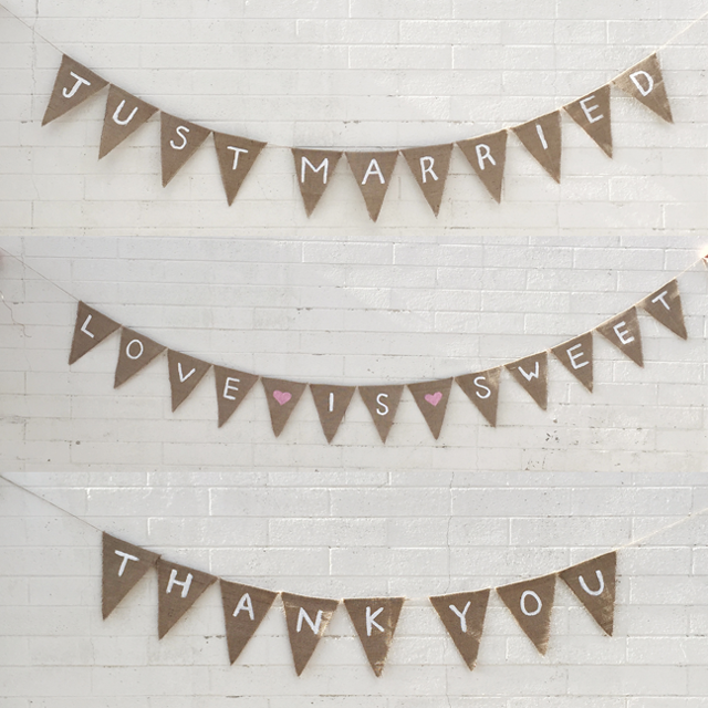 Wedding Burlap Bunting | Hey Love Designs