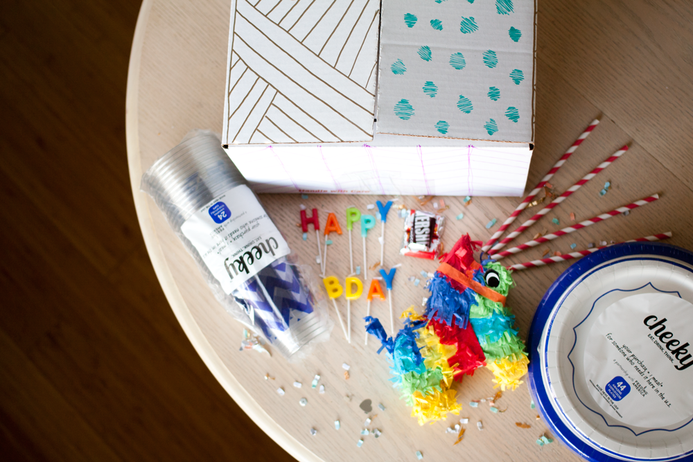 How to Make a Party in a Box. This make a great gift to send to your friends so they can have an instant party!| Hey Love Designs