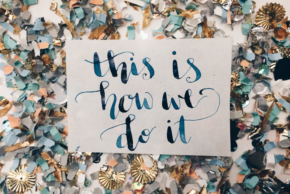 10 Days of Party Calligraphy Challenge on Instagram | Hey Love Designs