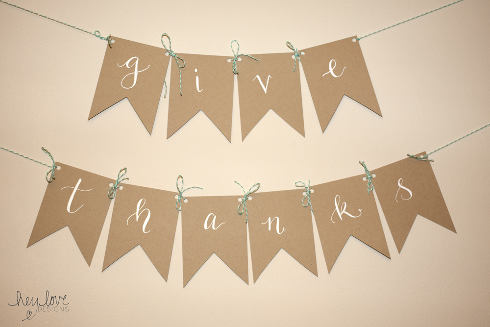 Thanksgiving Banner | Hey Love Designs