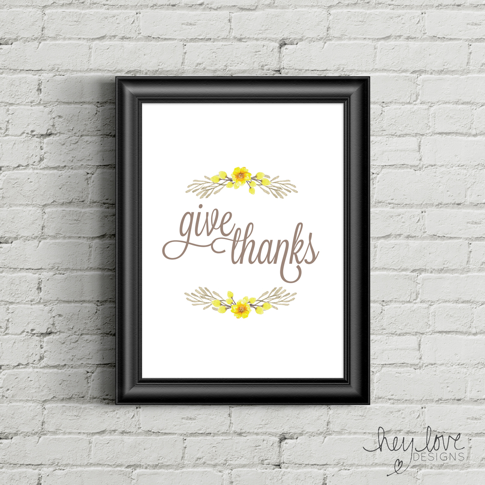 Free Printable: Thanksgiving Sign - Giving Thanks | Hey Love Designs