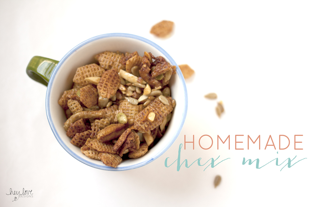 Homemade Chex Mix Recipe | Hey Love Designs