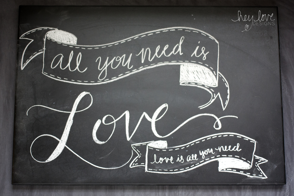 Chalkboard Lettering | Hey Love Designs