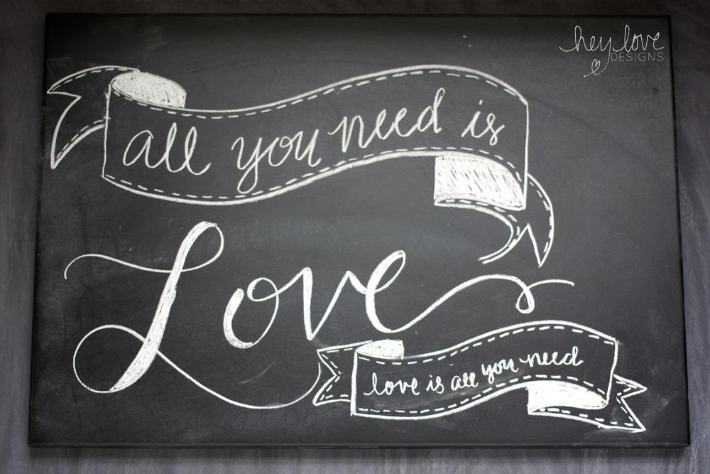 Chalkboard Lettering | Hey Love Designs