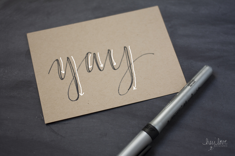 How to Fake Calligraphy | Hey Love Designs