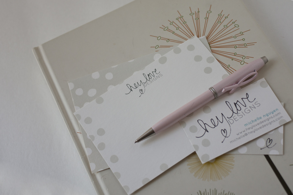 Confetti Note Cards and Business Cards | Hey Love Designs