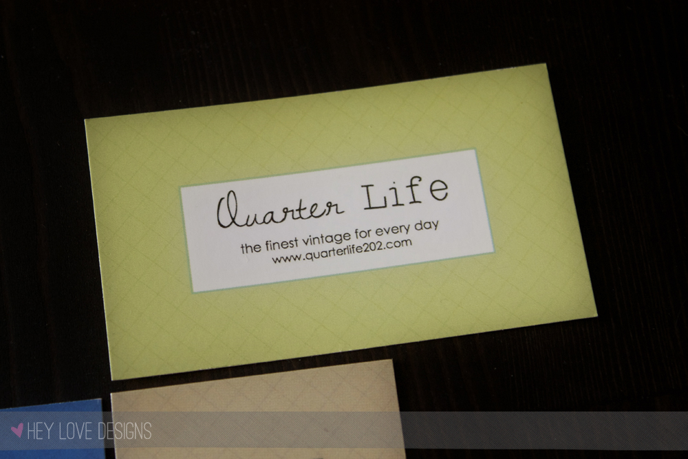 Quarter Life Business cards designed by Hey Love Designs