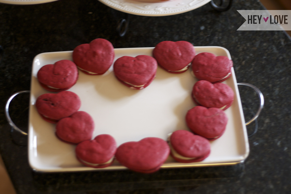 These heart-shaped whoopie pies are a perfect addition your Valentine's Day | Hey Love Designs