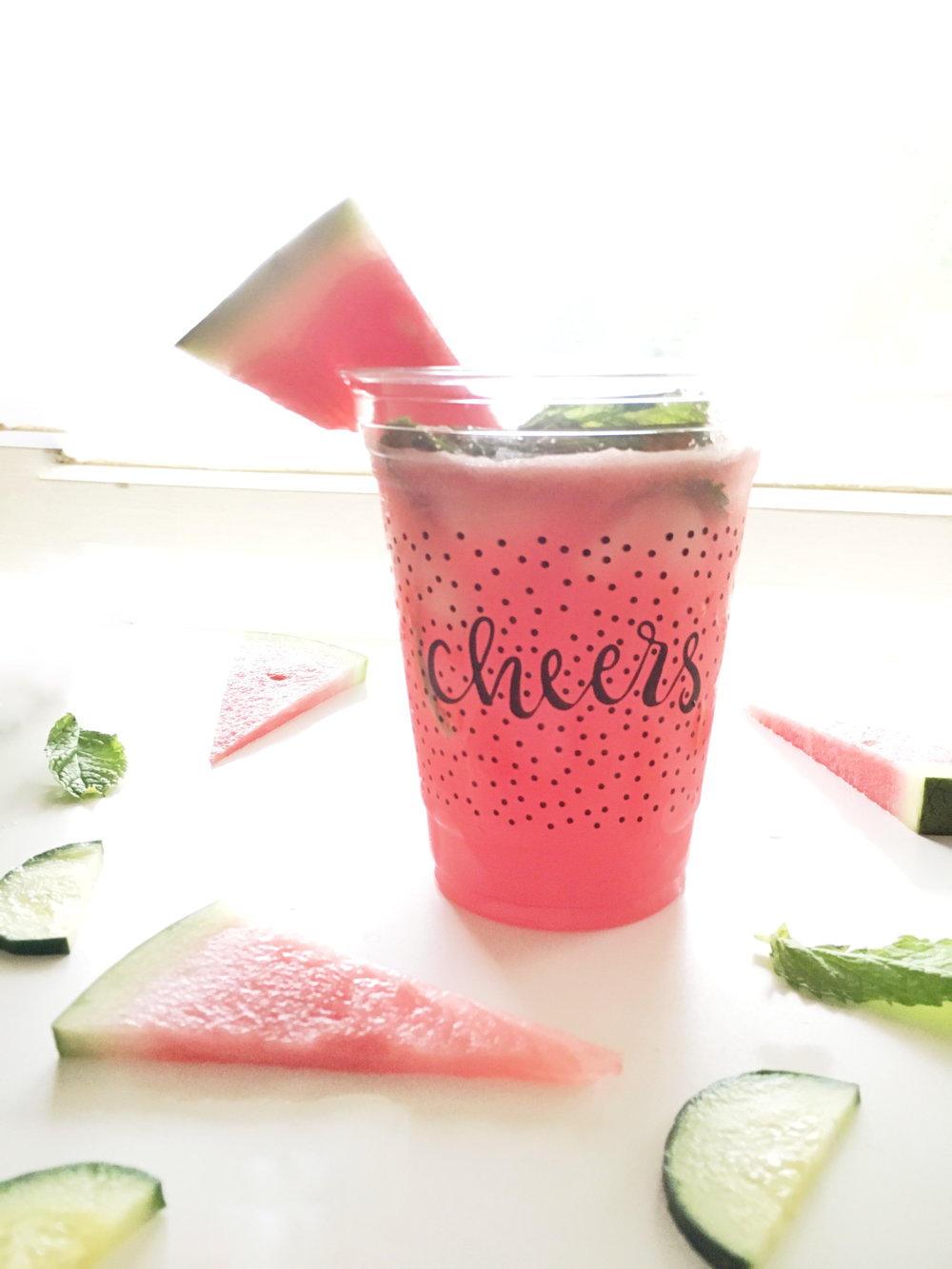 Cool down this summer with a refreshing watermelon cooler drink. All you need are watermelon, cucumbers, limes, and mint. Sip sip, hooray! Get the full details at @heylovedesigns.com. | Hey Love Designs