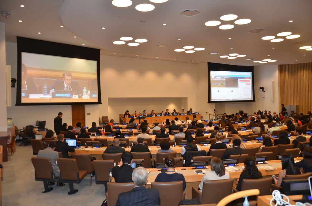 Vonvo Being Utilized at the United Nations While I Lead A Panel Discussion