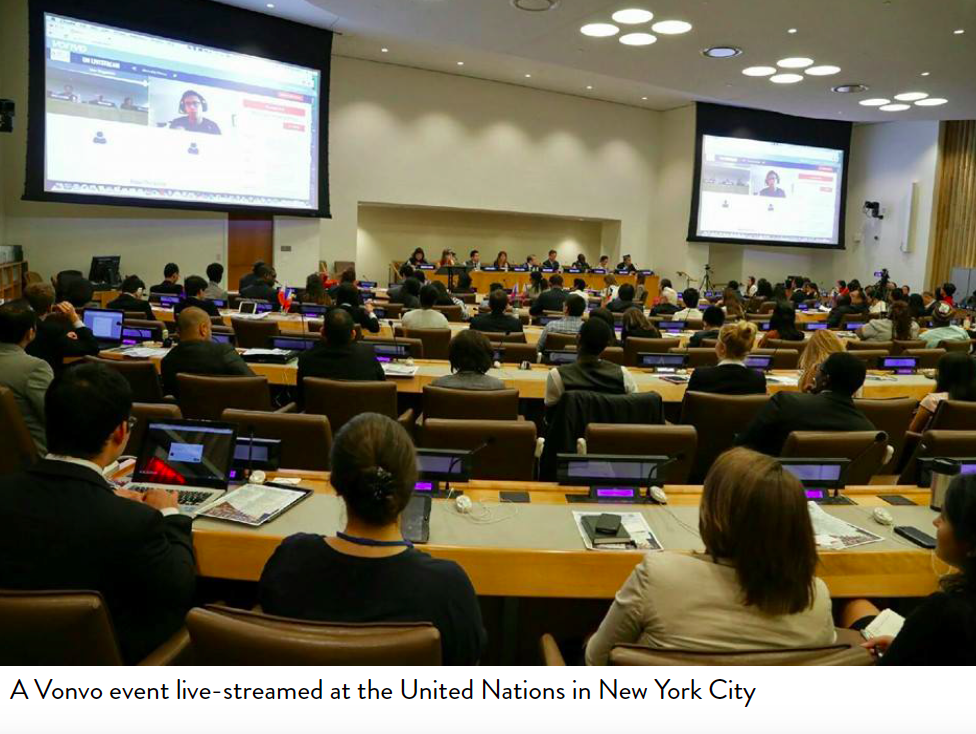 Vonvo Being Featured At The United Nations On The Big Board