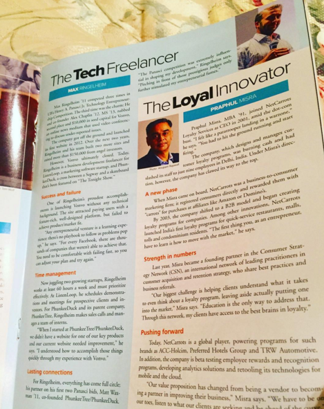 Being Featured in University At Buffalo Business Magazine