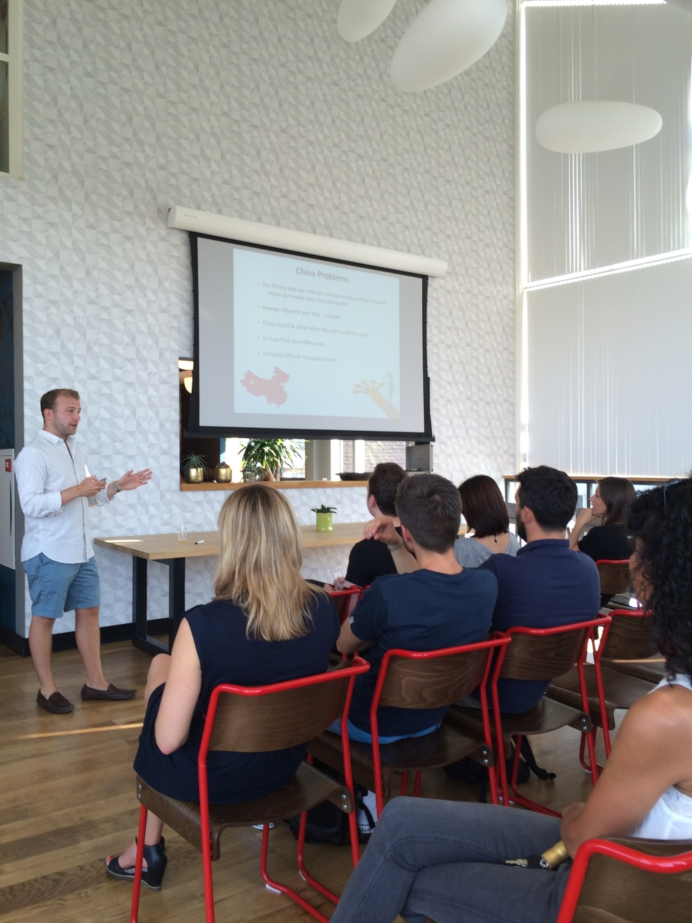 Presenting The Hoverboard Story At WeWork Amsterdam