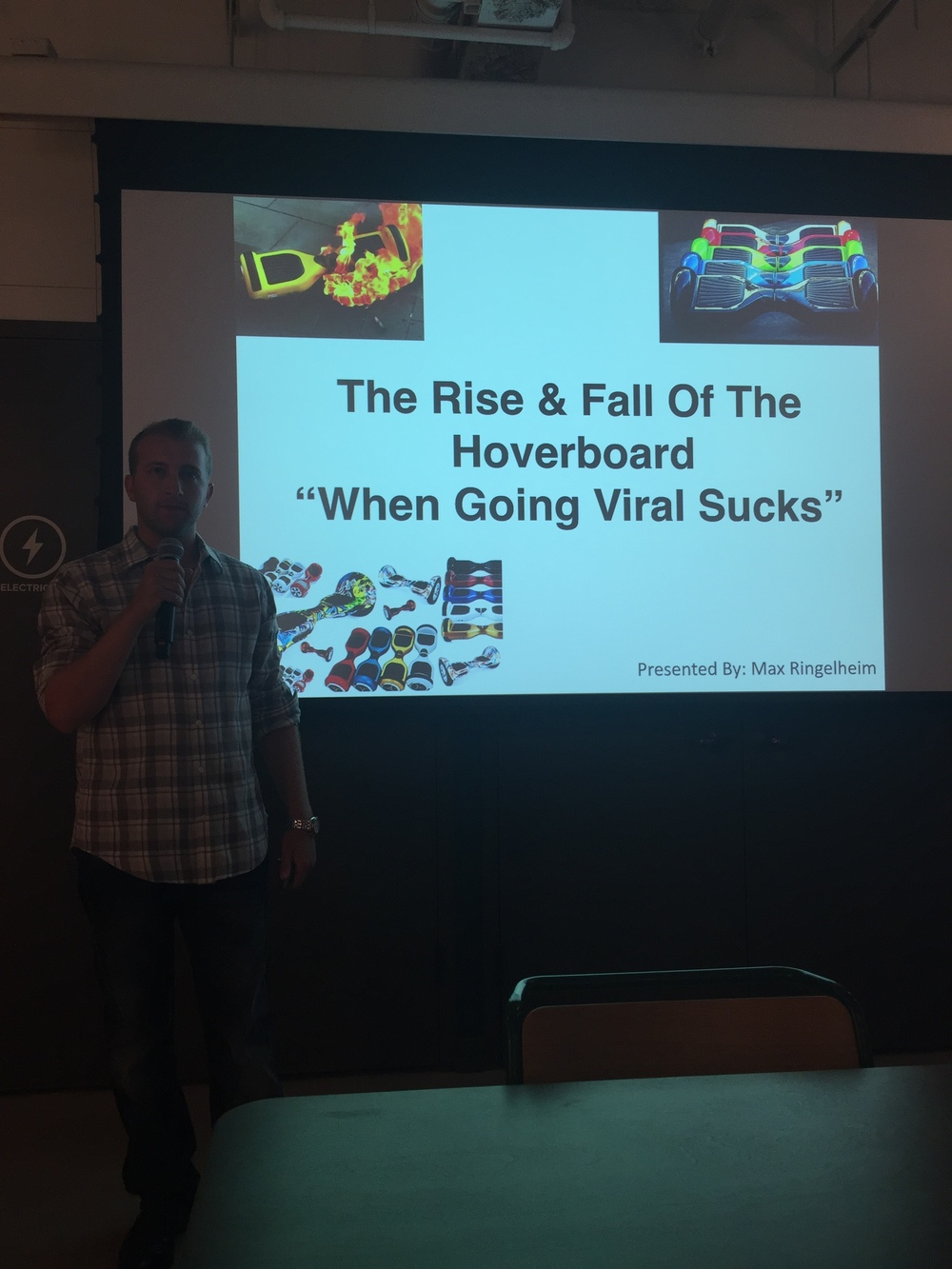 Presenting The Hoverboard Story At WeWork Time Square