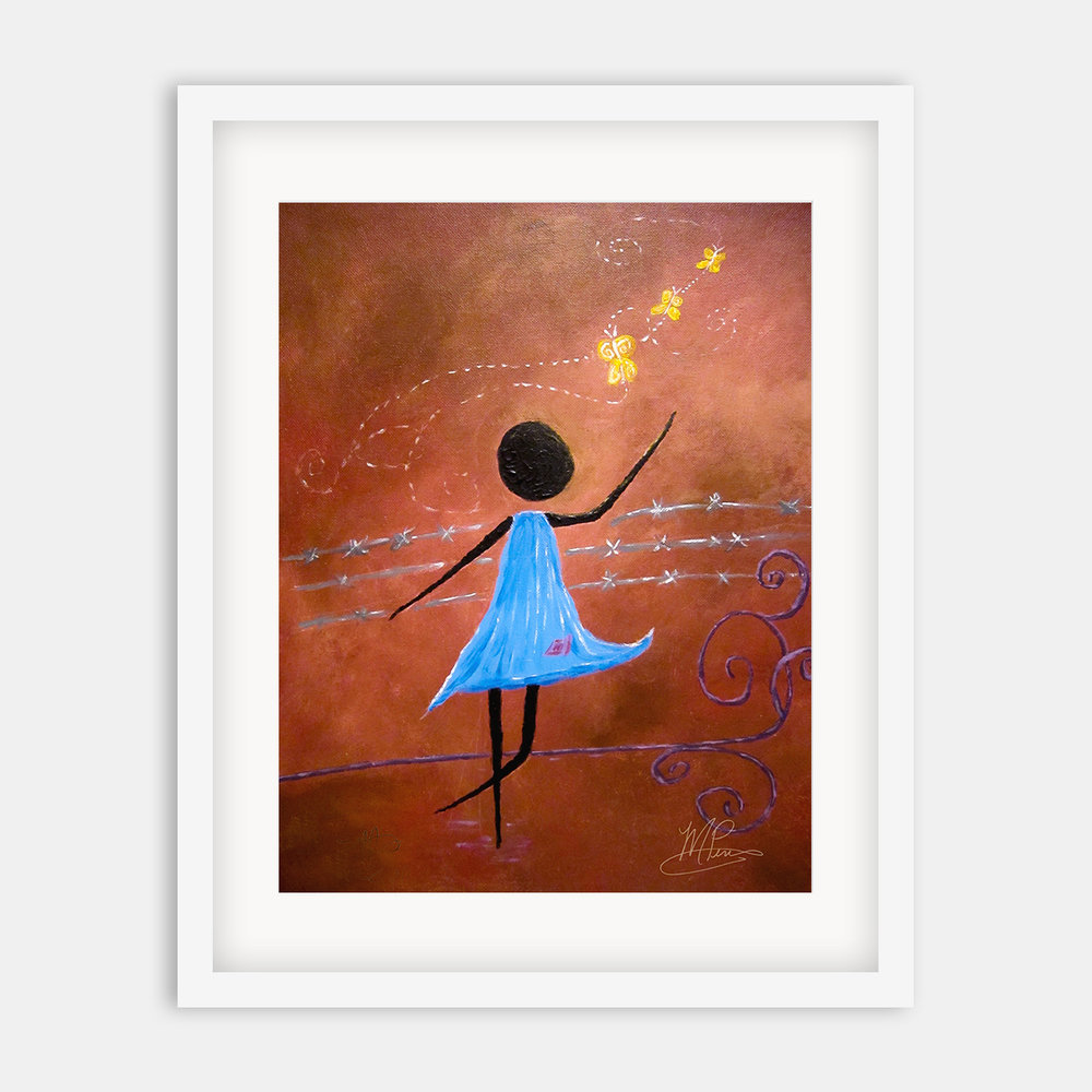 Freedom | Premium, 9x12 in. limited-edition giclées available in my Etsy shop.  100% of the profits go to help the kids I love so much central Africa.