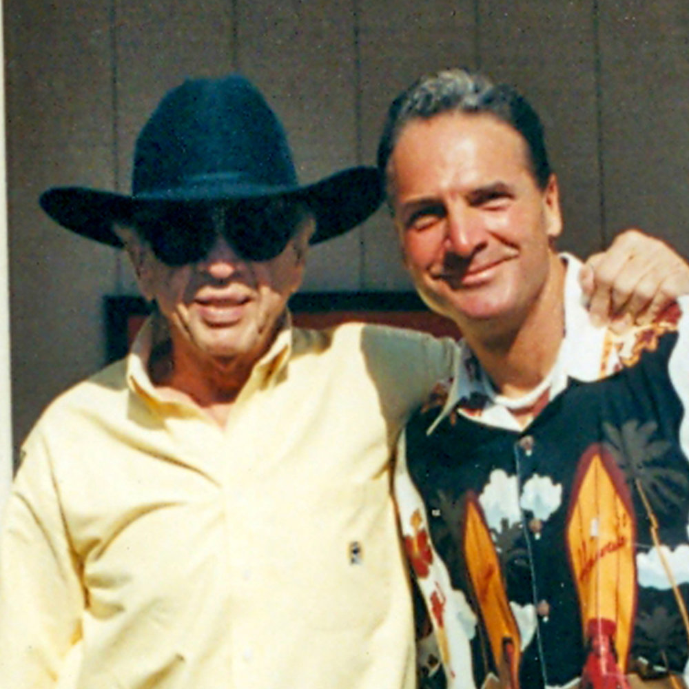 With Bakersfield's own Buck Owens before a performance at Buck's Crystal Palace.