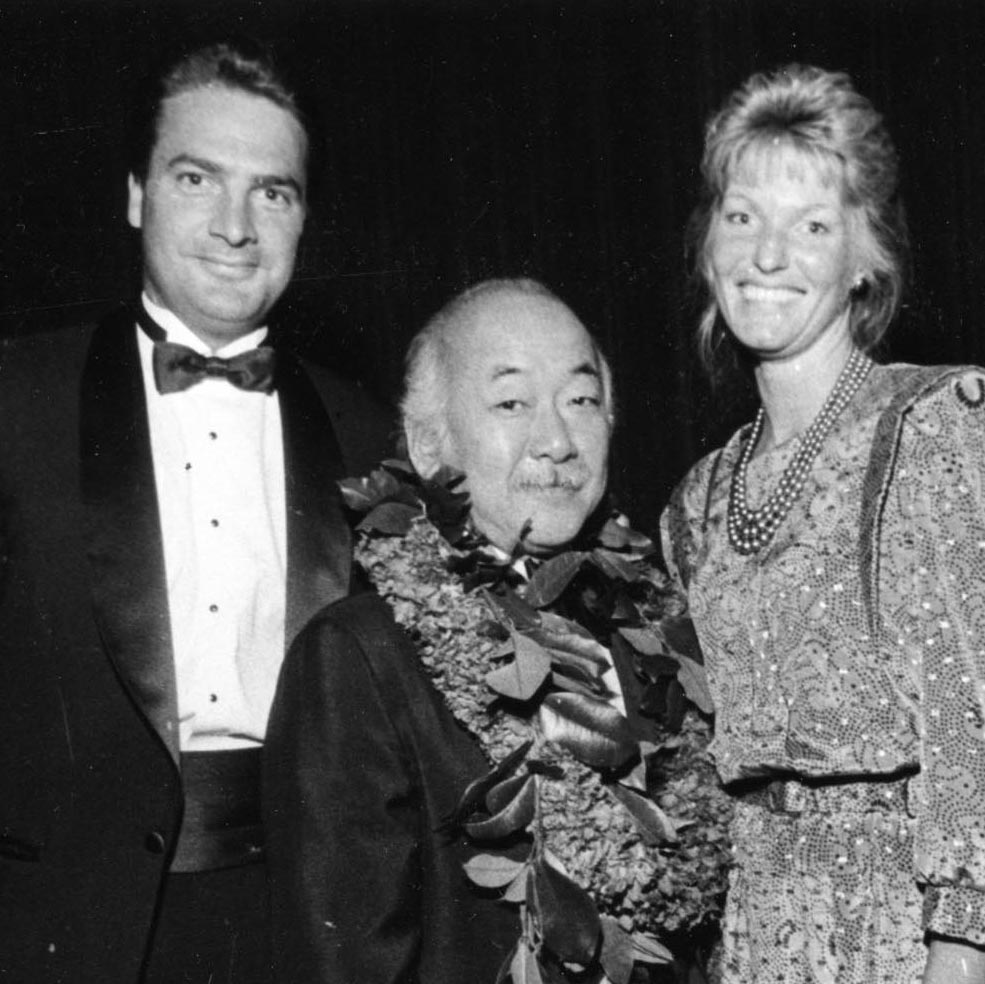 Joe and Leah supported the Assoc. of Asian Pacific American Artists - here with honoree Pat Morita.