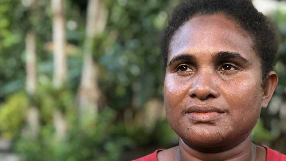 Nellie is from the small coral atoll of Santa Catalina in the province of Makira. She's already had to move houses after an earthquake made her part of the island more vulnerable to sea level rise. She says the future of the community is bleak with the increasing threats of climate change.
