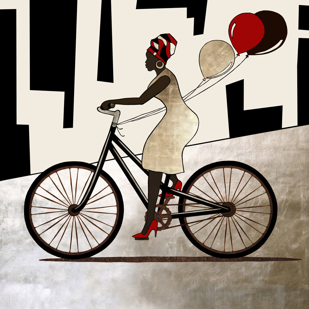 Fancy Woman on Bike – Balloons